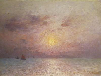 Sailing on the Sea, Evening; Voiliers Sur La Mer, Le Soir-Fernand Loyen du Puigaudeau-Giclee Print