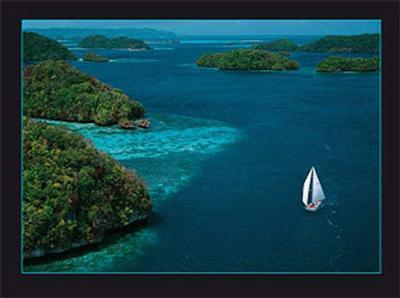 Sailing Palau-Jean-Luc Allegre-Art Print