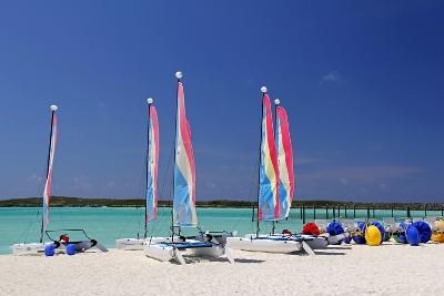 Sailing Rentals, Beach, Castaway Cay, Bahamas, Caribbean-Kymri Wilt-Photographic Print