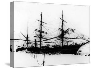 """Sailing Ship """"Discovery"""", of Robert F. Scott to South Pole, Frozen During Exploration of Antarctica"""