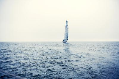 Sailing Ship Yachts with White Sails-Andrew Bayda-Photographic Print