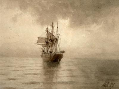 Sailing Ship-Lev Felixovich Lagorio-Giclee Print