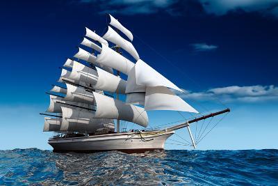 Sailing Ship-Antartis-Photographic Print