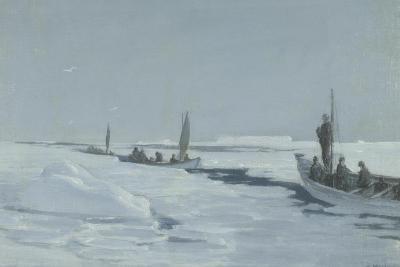 Sailing Towards Elephant Island Through Open Pack Ice, Weddell Sea-George Marston-Giclee Print