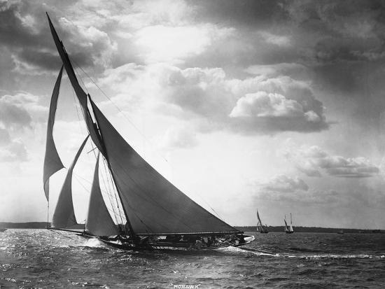 Sailing Yacht Mohawk at Sea--Photographic Print