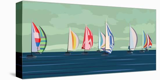 Sailing Yacht Regatta-Vertyr-Stretched Canvas Print