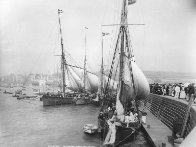 Sailing Yachts at Ramsgate--Photographic Print