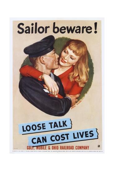 Sailor Beware! Poster-John Falter-Giclee Print
