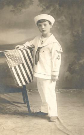 Sailor Boy with Flag