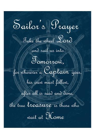 Sailor's Prayer 1-Sheldon Lewis-Art Print