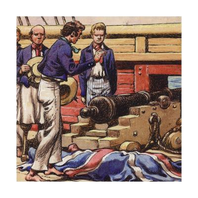 Sailors at a Ship's Cannon-Pat Nicolle-Giclee Print