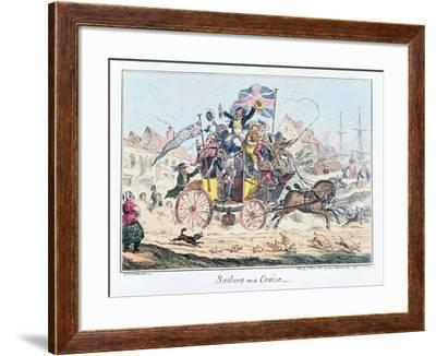 Sailors on a Cruise, Published by James Robins, 1st September 1825-George Cruikshank-Framed Giclee Print