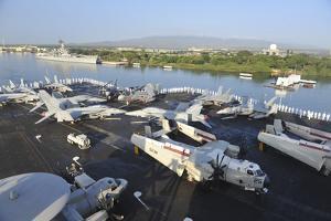 Sailors Render Honors Aboard the Aircraft Carrier USS Nimitz