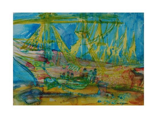 Sailors with a Horse-Brenda Brin Booker-Giclee Print