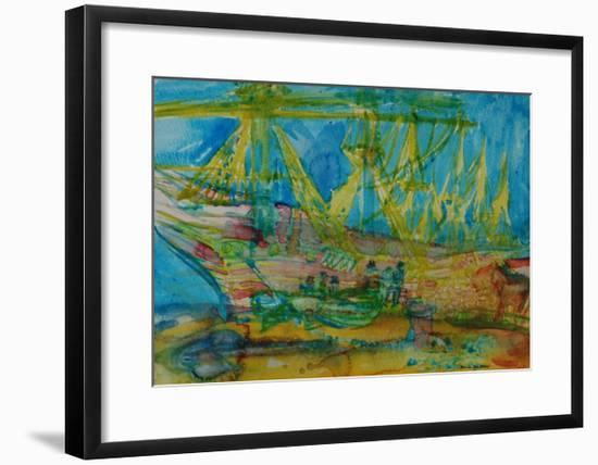 Sailors with a Horse-Brenda Brin Booker-Framed Giclee Print