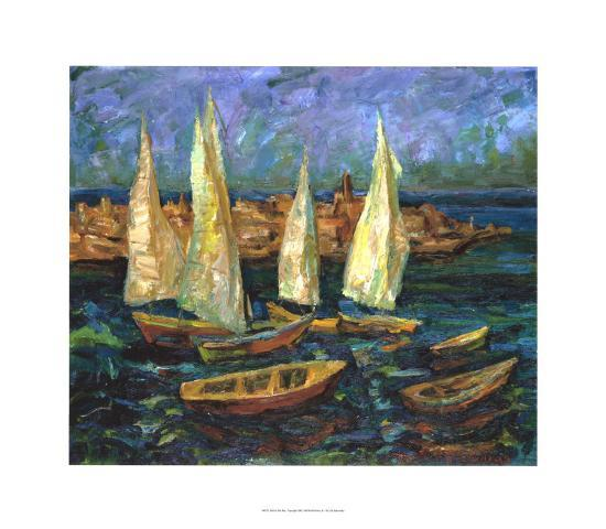 Sails in the Bay-Ula Sukhovetskaya-Giclee Print