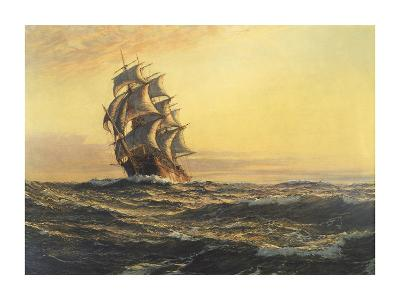 Sails of Evening-Montague Dawson-Premium Giclee Print
