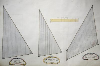 Sails of Minor Xebec from Atlas of Sailing by Gian Maria Maffioletti--Giclee Print