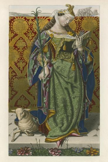 Saint Agnes, c 1520, from a Picture by Lucas Van Leyden-Henry Shaw-Giclee Print