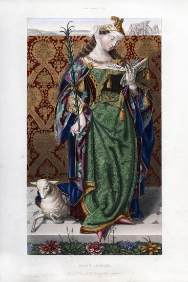 Saint Agnes, C1520-Henry Shaw-Giclee Print