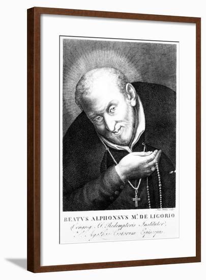 Saint Alphonsus Maria De Ligorio, Print Made by Joan Petrini--Framed Giclee Print