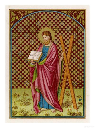 Saint Andrew Apostle Martyr Saint Depicted with His Cross--Giclee Print