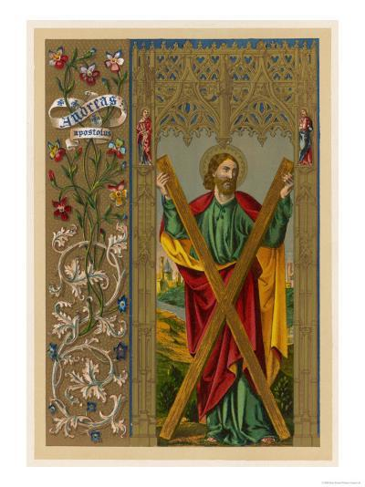 Saint Andrew One of Jesus's Apostles He is Depicted Holding the Cross on Which He Will be Crucified--Giclee Print