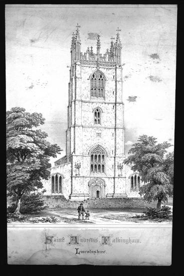 'Saint Andrew's Church, Falkingham, Lincolnshire', (early 19th century)-Unknown-Giclee Print