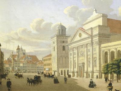 Saint Anna Church, Warsaw, Poland 19th Century-Malarz Nieznani-Giclee Print