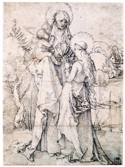 Saint Anne with Child and Virgin Mary, C1500-Albrecht Durer-Giclee Print