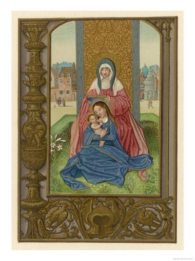 Saint Anne with Her Daughter Mary and Her Grandson Jesus--Giclee Print