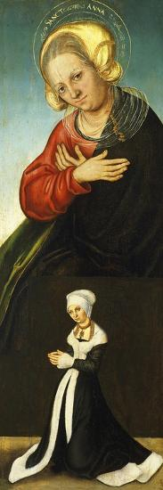Saint Anne with the Duchess Barbara of Saxony as Donor, Ca 1514-Lucas Cranach the Elder-Giclee Print