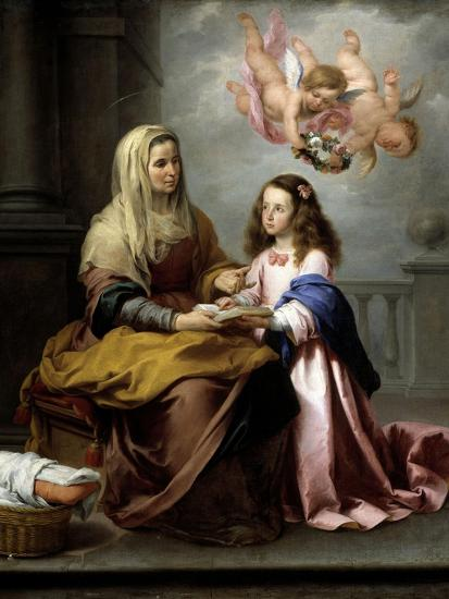 Saint Anne with the Virgin, Ca. 1655-Bartolome Esteban Murillo-Giclee Print