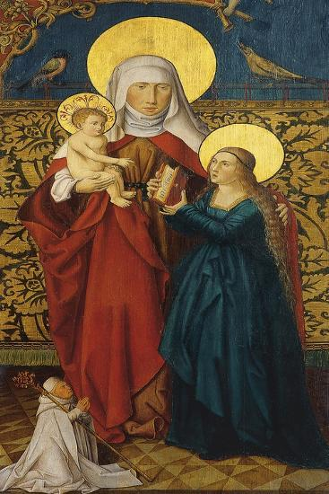 Saint Anne with the Virgin, Child and a Donor--Giclee Print