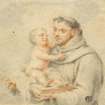 Saint Anthony of Padua (Chalk on Paper)--Giclee Print