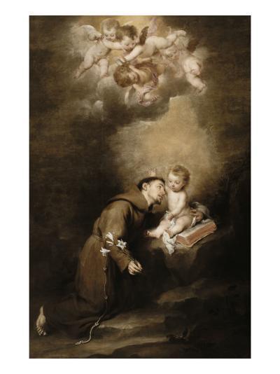 Saint Antoine de Padoue et l'Enfant Jésus-Bartolome Esteban Murillo-Giclee Print