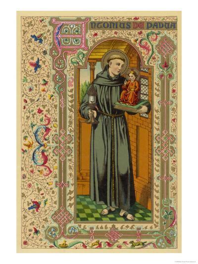 Saint Antony of Padua Portuguese Theologian--Giclee Print