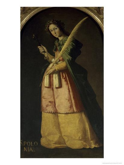 Saint Apollonia, 17th century-Francisco de Zurbar?n-Giclee Print