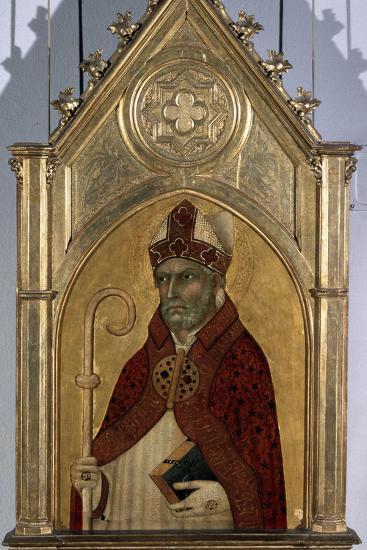 Saint Augustine, 1320S-Simone Martini-Photographic Print