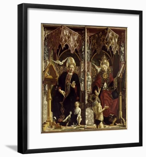 Saint Augustine and Saint Gregory-Michael Pacher-Framed Giclee Print