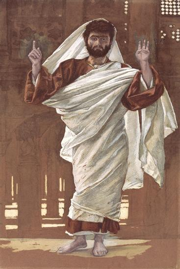Saint Bartholomew for 'The Life of Christ', C.1886-94 (W/C and Gouache on Paperboard)-James Jacques Joseph Tissot-Giclee Print