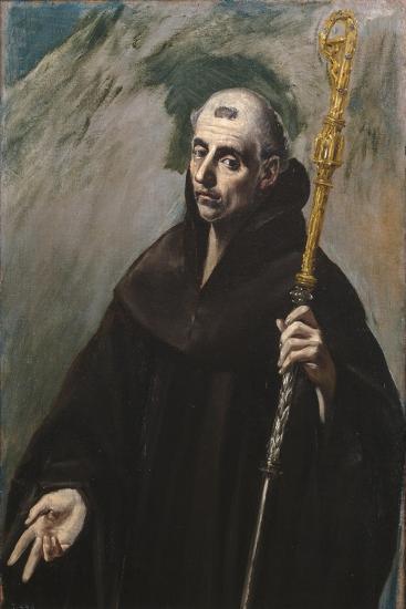 Saint Benedict of Nursia, 1577-1579-El Greco-Giclee Print