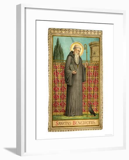 Saint Benedict of Nursia--Framed Giclee Print