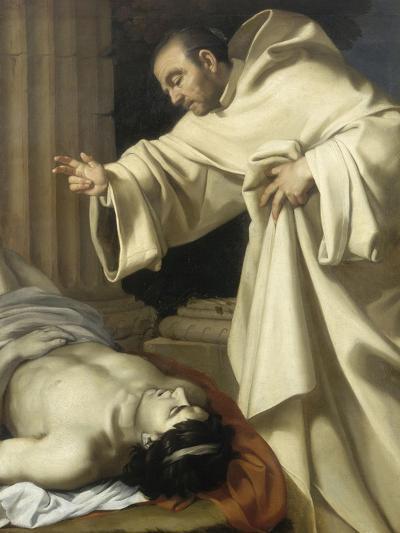 Saint Bernard ressuscitant un mort-Aubin Vouet-Giclee Print