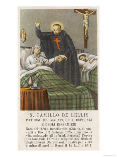 Saint Camillo de Lellis Patron Saint of the Sick--Giclee Print