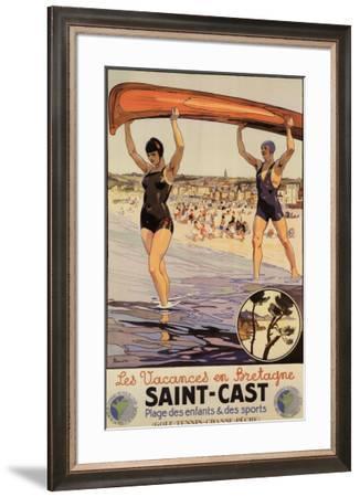 Saint-Cast-Peryber-Framed Art Print