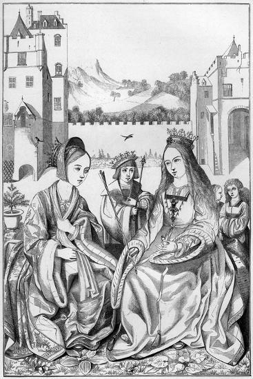 Saint Catherine of Alexandria, 15th Century- Cottard-Giclee Print