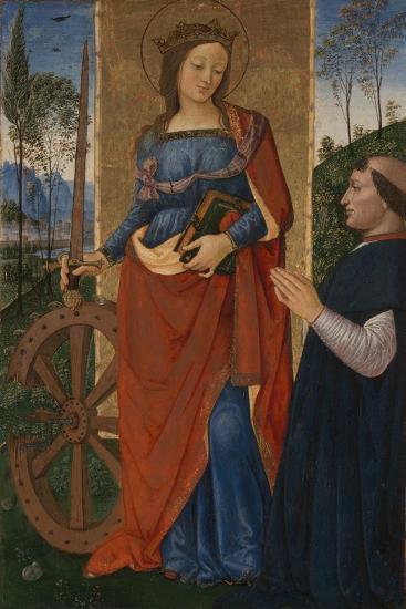Saint Catherine of Alexandria with a Donor, C. 1480-Bernardino Pinturicchio-Giclee Print