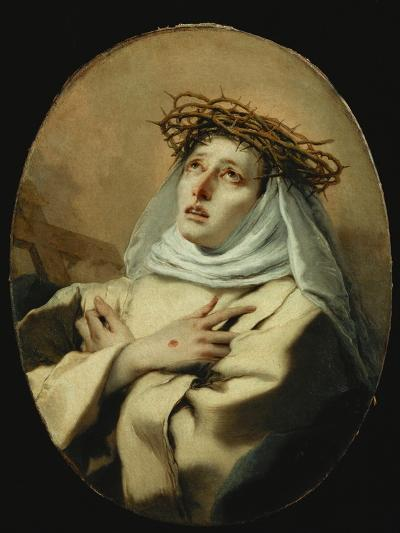 Saint Catherine of Siena, Around 1746-Giovanni Battista Tiepolo-Giclee Print