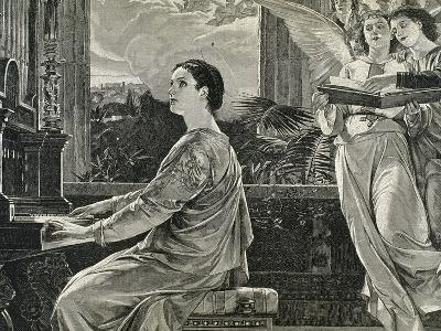 Saint Cecilia of Rome. 2nd Century A.C. Roman Martyr--Giclee Print